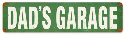 Retro Dad's Garage Metal Sign 20 x 5 Inches