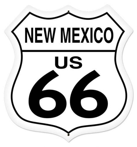Retro New Mexico Route 66 Shield Metal Sign 28 x 28 Inches