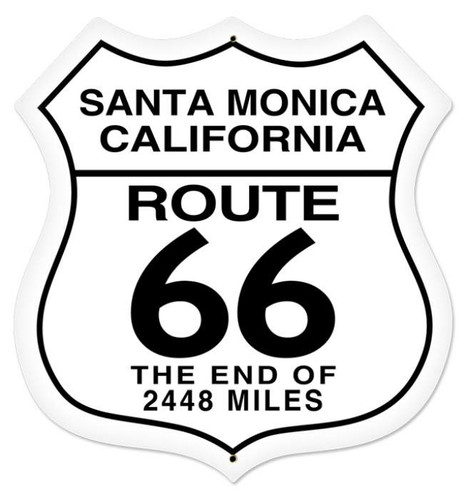 Retro Santa Monica Shield Metal Sign 28 x 28 Inches