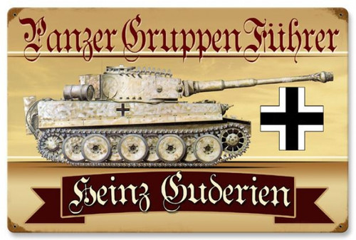 Retro Panzer Gruppen Metal Sign - Personalized 24 x 16 Inches
