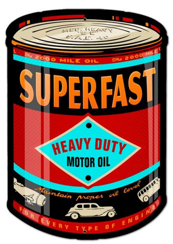 Retro Oil Can Metal Sign 14 x 20 Inches