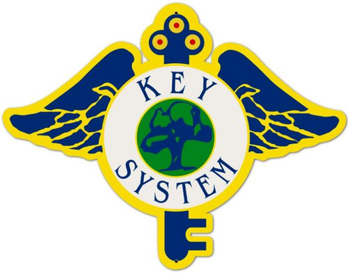 Retro Key System Metal Sign 22 x 17 Inches