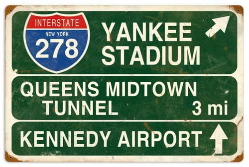 Yankee Stadium Metal Sign 22 x 16 Inches