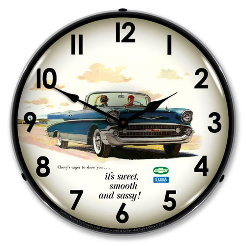1957 Bel Air Convertible Lighted Wall Clock