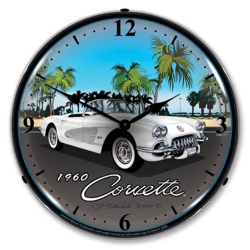 1960 Corvette Lighted Wall Clock