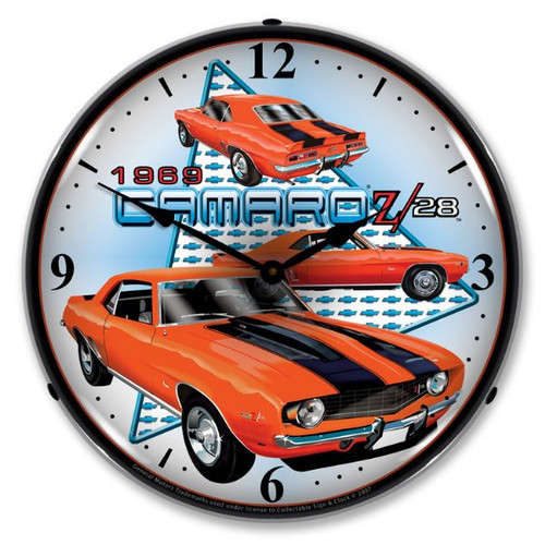 1969 Camaro Z28 Lighted Wall Clock