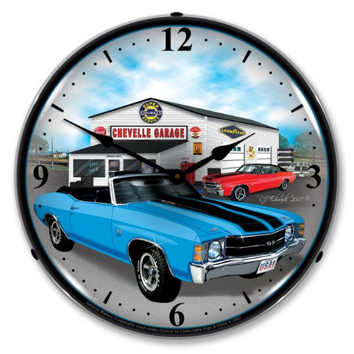 1971 Chevelle Lighted Wall Clock