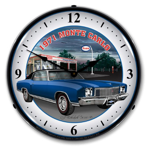 1971 Monte Carlo Lighted Wall Clock