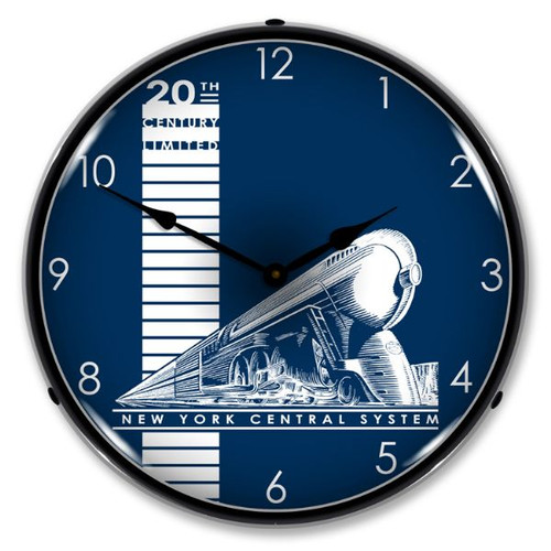 20th Century Limited Lighted Wall Clock