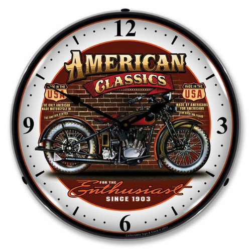 American Classic Bike Lighted Wall Clock