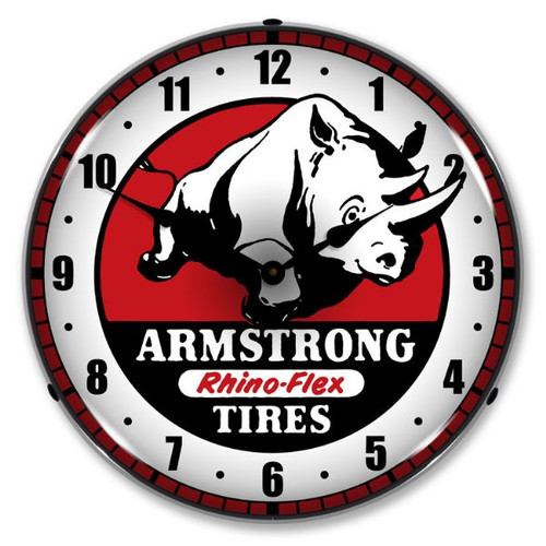 Armstrong Tire Lighted Wall Clock