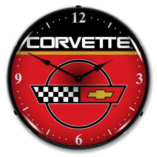 C4 Corvette Lighted Wall Clock