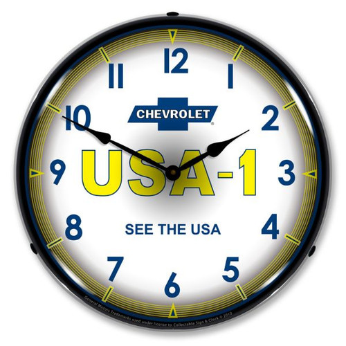 Chevrolet   USA1 Lighted Wall Clock