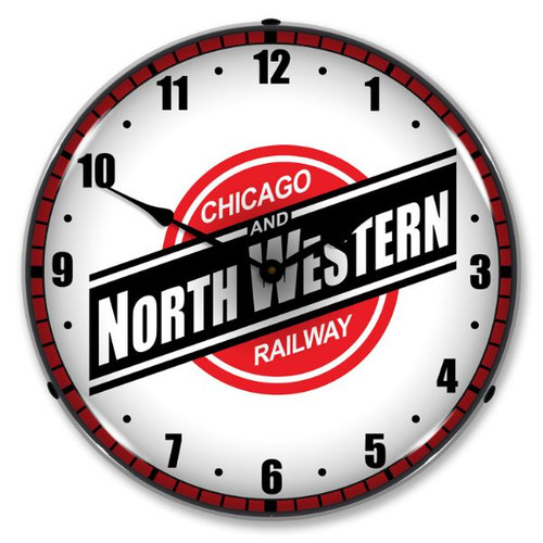 Chicago North Western Railroad Lighted Wall Clock