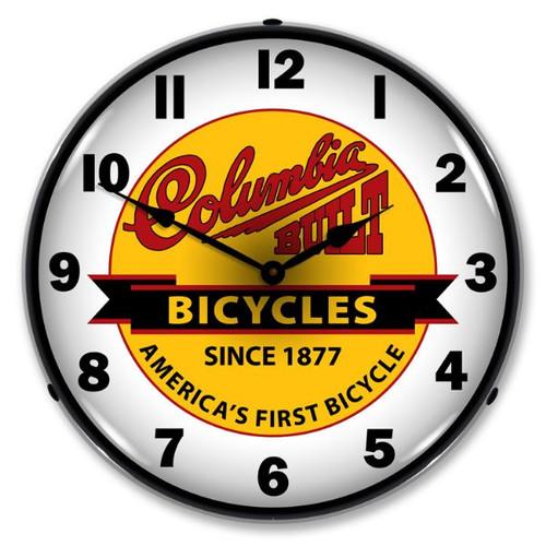 Columbia Bikes Lighted Wall Clock