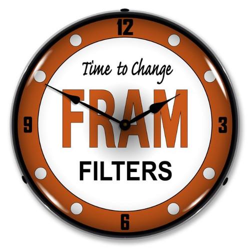 Fram Filters Lighted Wall Clock