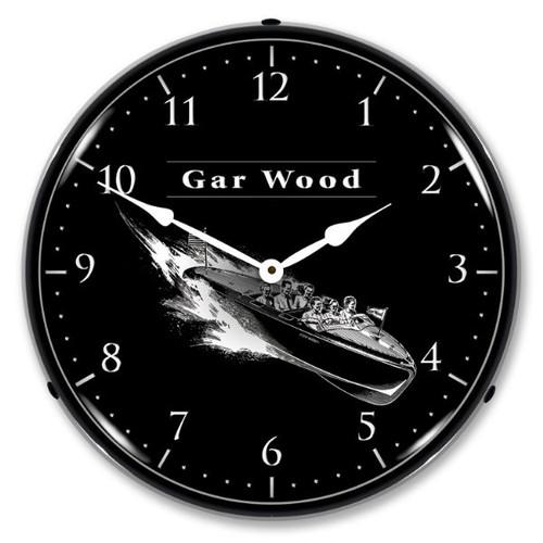 Gar Wood Lighted Wall Clock