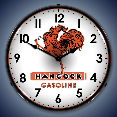 Retro  Hancock Gas Lighted Wall Clock 14 x 14 Inches