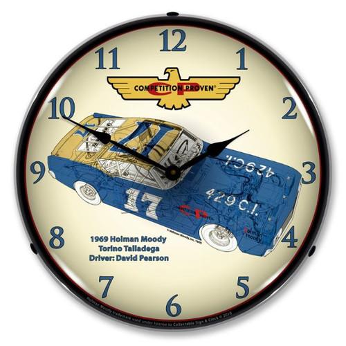 Holman Moody Torino Lighted Wall Clock