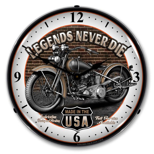 Legends Lighted Wall Clock