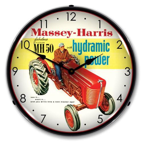Massey-Harris Lighted Wall Clock
