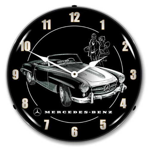 Mercedes Lighted Wall Clock
