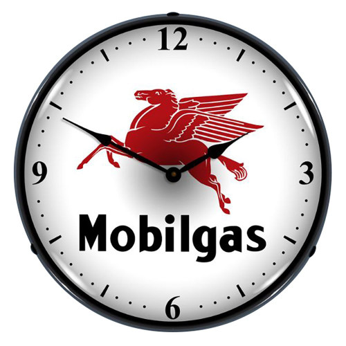 Mobilgas Lighted Wall Clock