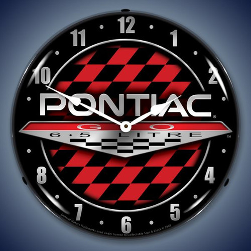 Retro  Pontiac GTO Lighted Wall Clock 14 x 14 Inches