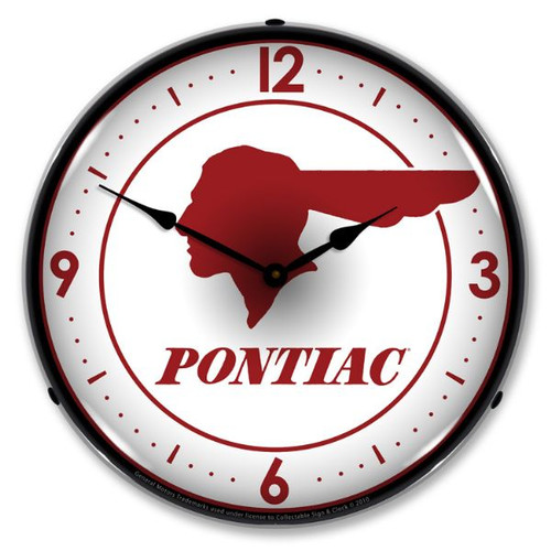 Pontiac Indian Lighted Wall Clock