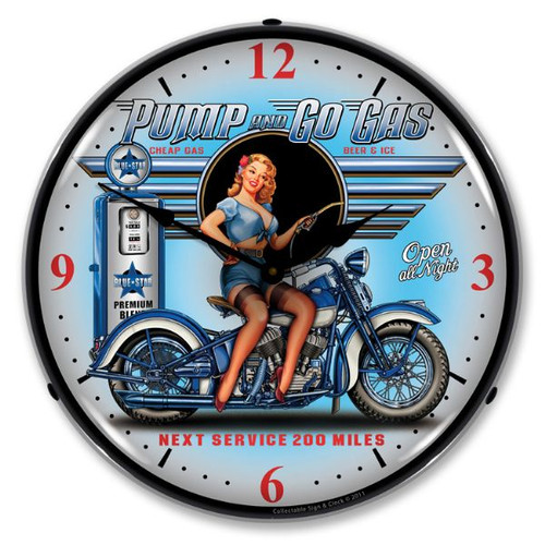 Pump N Go Lighted Wall Clock