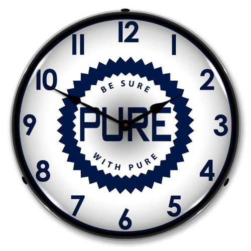 Pure Oil Lighted Wall Clock