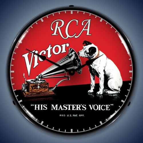 Retro  RCA Victor Lighted Wall Clock 14 x 14 Inches