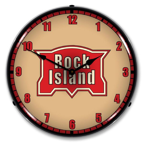 Rock Island Railroad Lighted Wall Clock