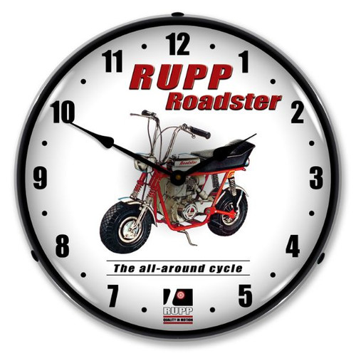 Rupp Minibike Lighted Wall Clock