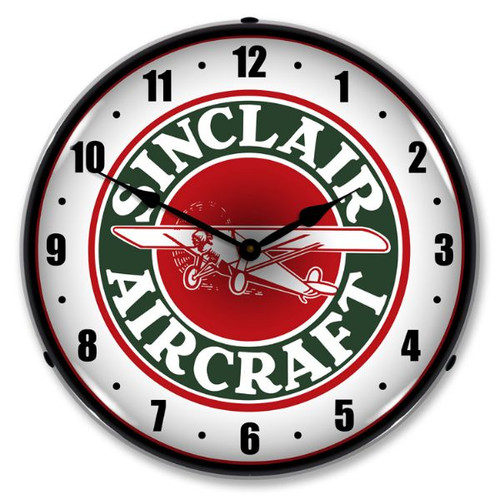 Sinclair Aircraft Lighted Wall Clock