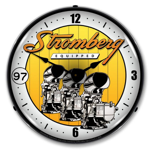 Stromberg Carburetor Lighted Wall Clock