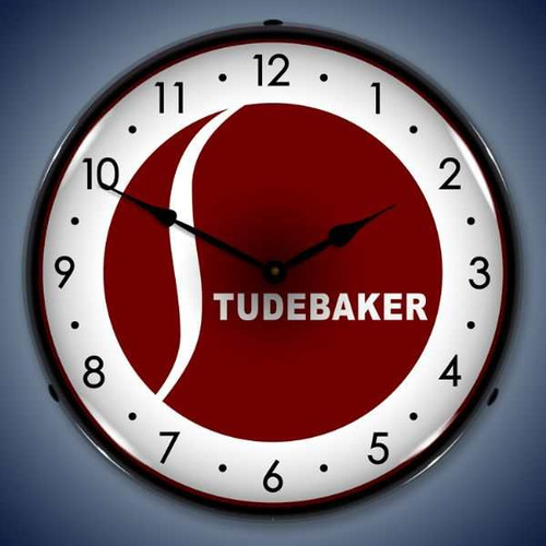 Retro  Studebaker Lighted Wall Clock 14 x 14 Inches