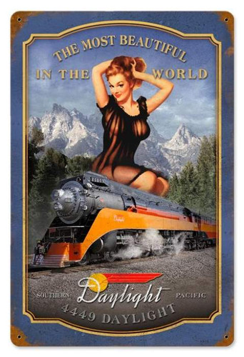 Retro Daylight  - Pin-Up Girl Metal Sign 18 x 12 Inches