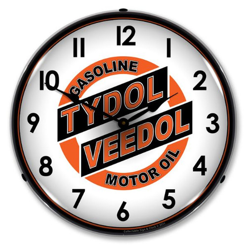 Tydol Veedol Lighted Wall Clock