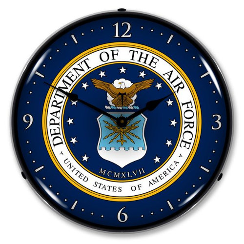 US Air Force Lighted Wall Clock