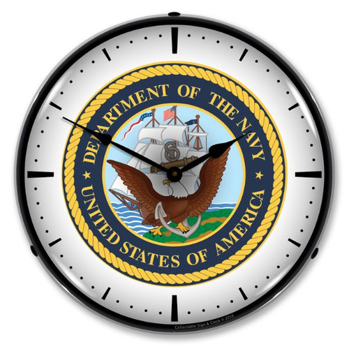US Navy Lighted Wall Clock