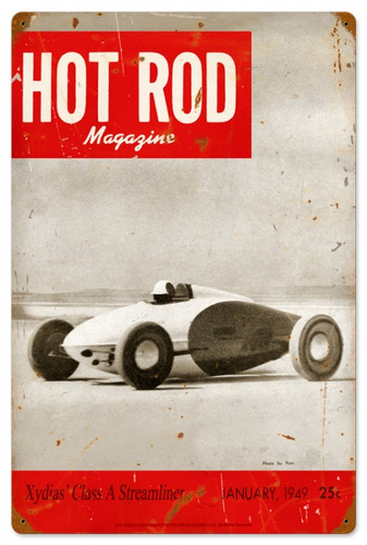 Retro Hot Rod Magazine 17899 Metal Sign16 x 24 Inches