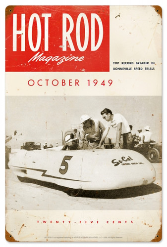 Retro Hot Rod Magazine 18172 Metal Sign16 x 24 Inches