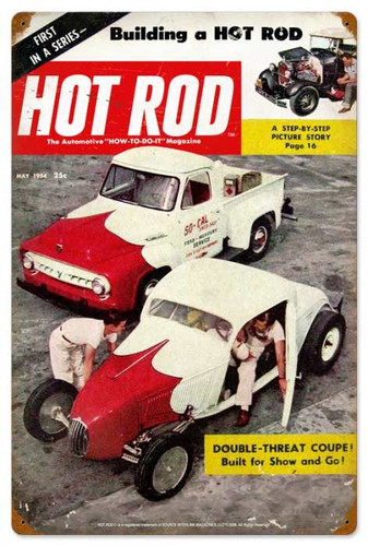 Retro Hot Rod Magazine 19845 Metal Sign16 x 24 Inches