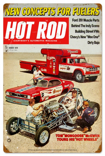 Retro Hot Rod Magazine 25781 Metal Sign16 x 24 Inches