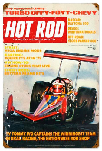 Retro Hot Rod Magazine 27515 Metal Sign16 x 24 Inches
