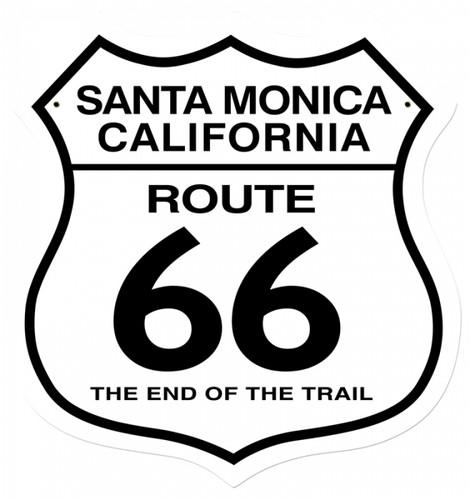 Retro Santa Monica Metal Sign 15 x 15 Inches