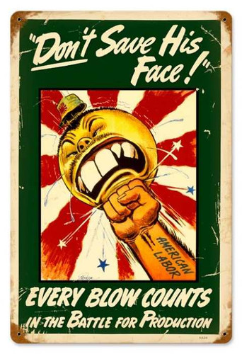 Retro Every Blow Counts Metal Sign  18 x 12 Inches