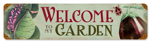 Retro Welcome to my Garden Tin-Metal Sign