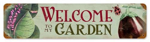 Retro Welcome to my Garden Tin-Metal Sign